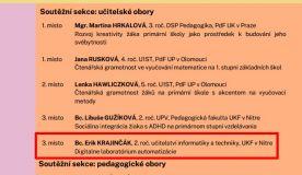 Úspech študenta Katedry techniky a informačných technológií na medzinárodnej súťaži ŠVOUČ.