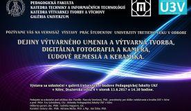 Pozvánka na vernisáž prác študentov Univerzity tretieho veku
