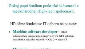 Získaj popri štúdiu praktické skúsenosti v medzinárodnej High-Tech spoločnosti